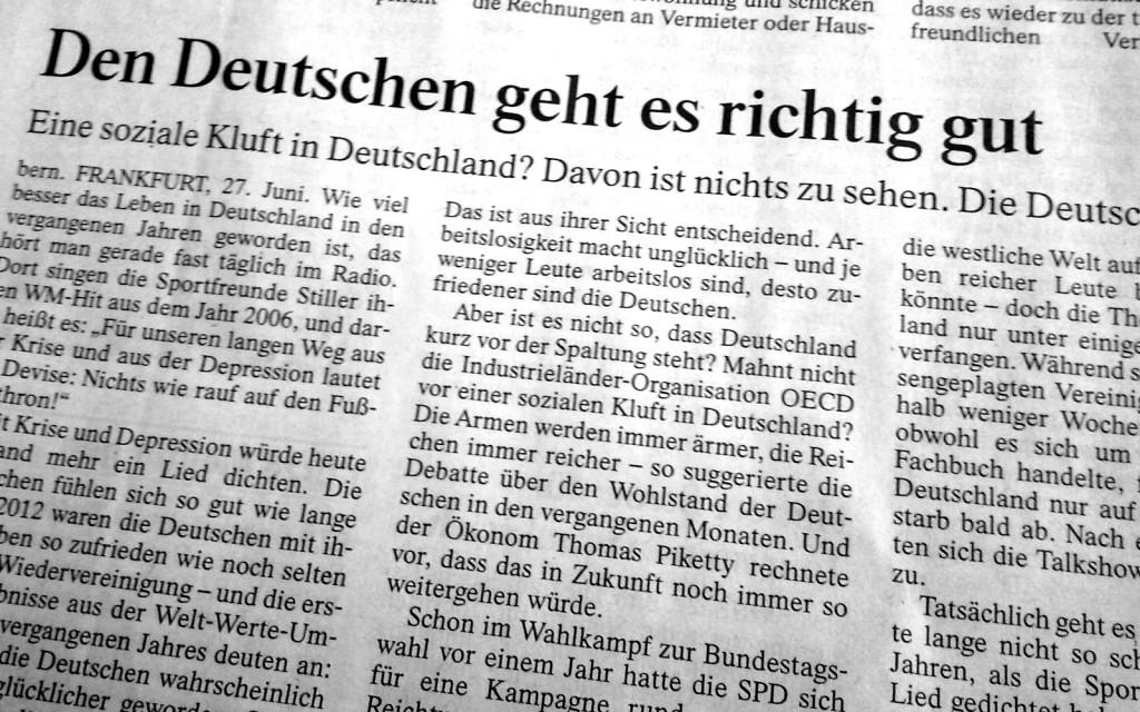 Den Deutschen geht es richtig gut