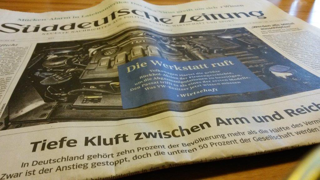 Süddeutsche Zeitung vom 26.1.2016