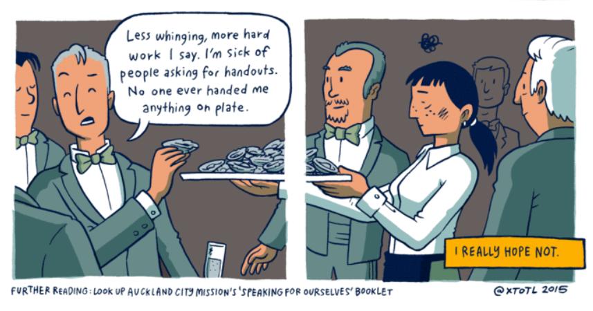 """Ausschnitt aus """"Pencilsword #10: On a Plate"""" von Toby Morris – der ganze Comic findet sich bei The Wireless. Mit freundlicher Genehmigung des Künstlers"""